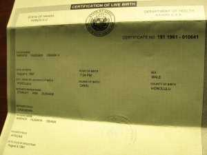 President Obama's alleged birth certificate
