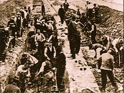 1918 mass graves from Spanish Flu