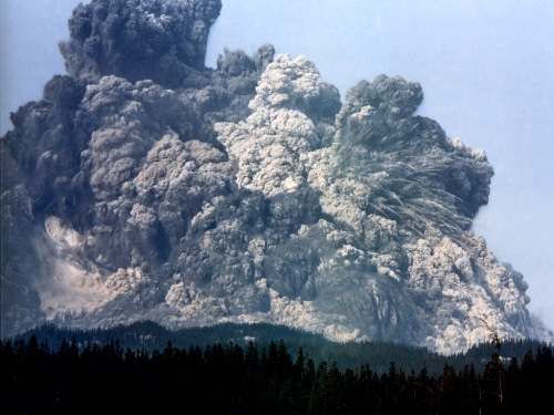 Mount St. Helen's Eruption May 18, 1980. (Nat. Geo)